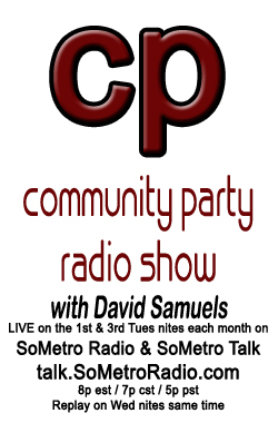 Community Party Radio Show Logo